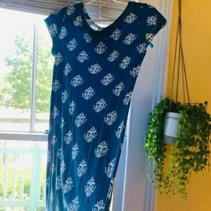 Hatley Cobalt Blue/Lime Detail Summer Dress MED